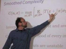Daniel Spielman Presenting Gödel Prize Lecture