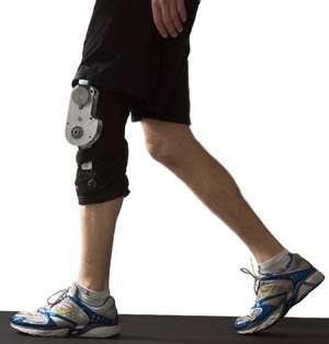 Knee brace generates electricity from walking