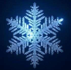 Math models snowflakes