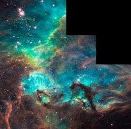 NGC 2074 Imaged by Hubble on 100,000th Orbit Milestone