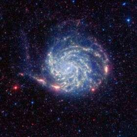 Spitzer Reveals 'No Organics' Zone Around Pinwheel Galaxy