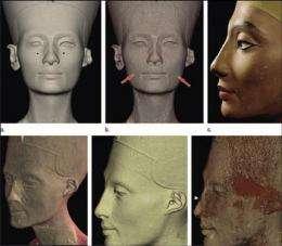 CT scan reveals hidden face under Nefertiti bust (AP)