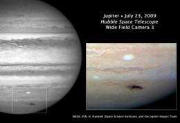 Hubble captures rare Jupiter collision