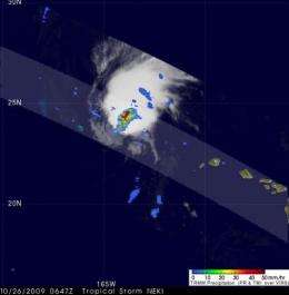 NASA gets a 3-D look at Neki becoming extra-tropical