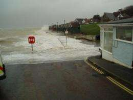 Rising sea levels are increasing the risk of flooding along the south coast of England