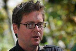 Twitter co-founder Biz Stone is interviewed during the Twitter Conference LA in Los Angeles on September 2009.