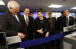 US Homeland Security Secretary Janet Napolitano cut the ribbon Friday on a command center for government cybersecurity