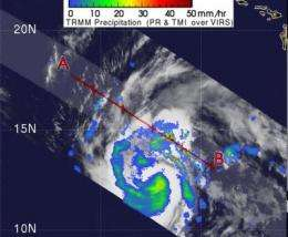 NASA's TRMM sees some heavy rains in Neki as it heads toward Johnston Island
