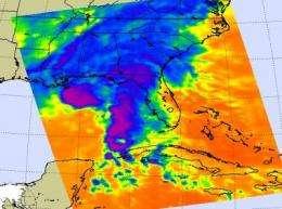 NASA satellites see Ida spreading out before landfall