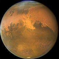 This NASA Hubble Space Telescope image shows Mars in 2005