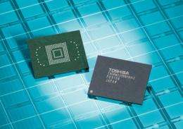 Toshiba Launches Highest Density Embedded NAND Flash Memory Modules
