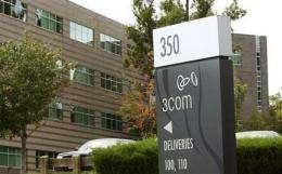 Hewlett Packard to buy 3Com for $2.7B (AP)