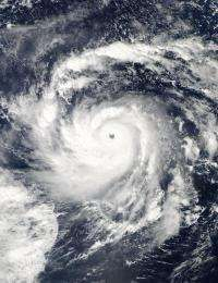 NASA's Aqua satellite sees Nida explode into a category 5 Super typhoon