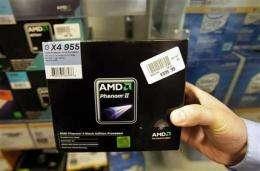 AMD 2Q sales slump 13 pct, shares dive (AP)