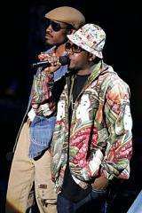 Andre Benjamin and Antwan Patton of Outkast perform in 2006
