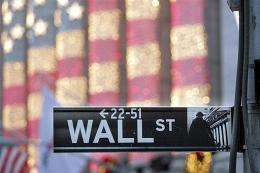 An outside view of the New York Stock Exchange on Wall Street