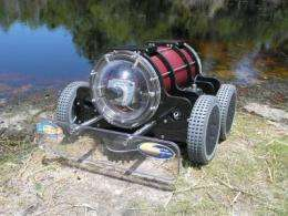 Autonomous underwater robot reduces ship fuel consumption