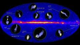 Continent-sized radio telescope takes close-ups of Fermi active galaxies