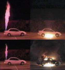 exploding cars