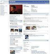 Facebook founder Mark Zuckerberg is pictured on his profile page