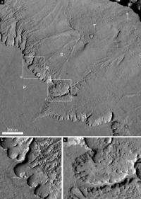 Geological landforms indicate 'recent' warm weather on Mars