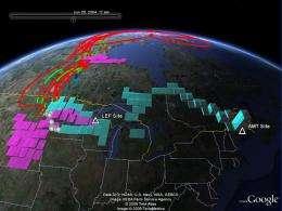 Google Earth Application Maps Carbon's Course