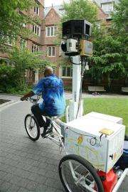 Google tricycle snaps views from Philly campus (AP)