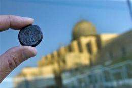 Israel displays coins from ancient Jewish revolt (AP)