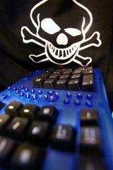 Keyboard symbolizing a hacker