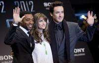 "L-R: Chiwetel Ejiofor, Amanda Peet and John Cusack at the premiere of ""2012"""
