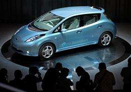 """Nissan Motor's electric vehicle called """"Leaf"""""""