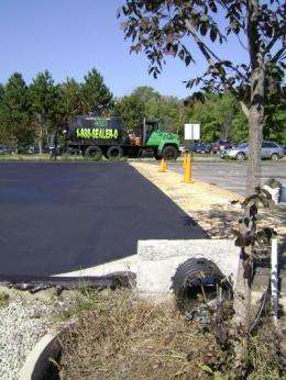 Pavement sealcoat a source of toxins in stormwater runoff