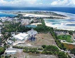 Roi-Namur Island at the Kwajalein missile range