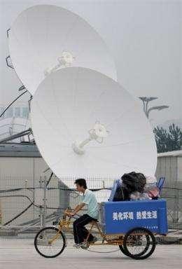 Satellite dishes in Beijing