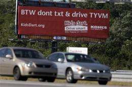 States send mixed message on texting and driving (AP)