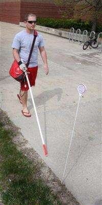 Students develop cane with e-tags to guide blind (AP)