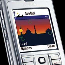 Sun Dial uses mobile phones to alert Muslims to prayer