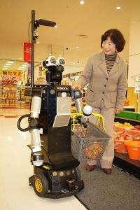Supermarket robot to help the elderly