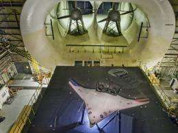 Test of Futuristic X-48C is Historic Wind Tunnel's Swan Song