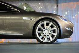 The new Tesla Model S all-electric sedan