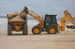 The slick has contaminated a 60km (40 mile) stretch of the region's beaches