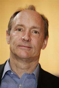 Tim Berners-Lee, Inventor of the Web, poses during the 20 years celebration of the World Wide Web