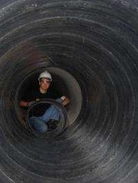 Arizona civil engineering professor develops 'superlaminate' industrial pipe repair system