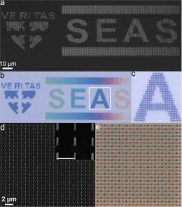 Engineers create vibrant colors in vertical silicon nanowires