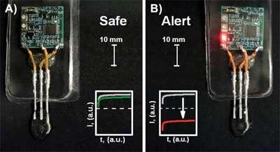 Flexible, printable sensors detect underwater hazards