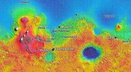 Homing in on landing site for new Mars Rover