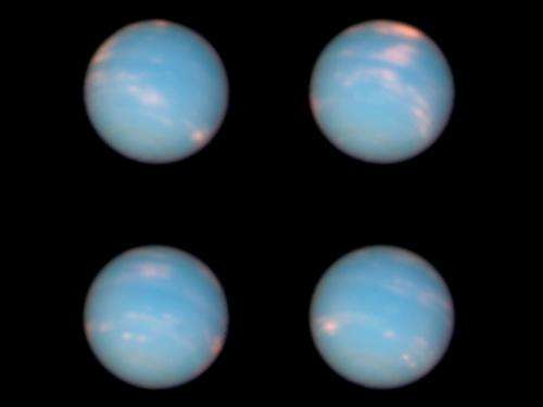 Hubble's Neptune anniversary pictures