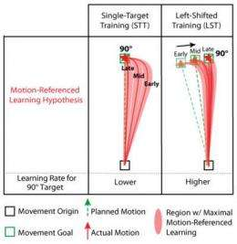 In motor learning, it's actions, not intentions, that count