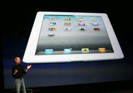 iPad 2 is one-third thinner, nearly 15 percent lighter and faster than the model released last April