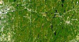 Landsat satellite images compare before and after Massachusetts tornado